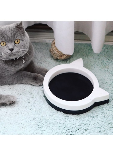3Wdesign Mermer - Kedi Mama Kabı Siyah